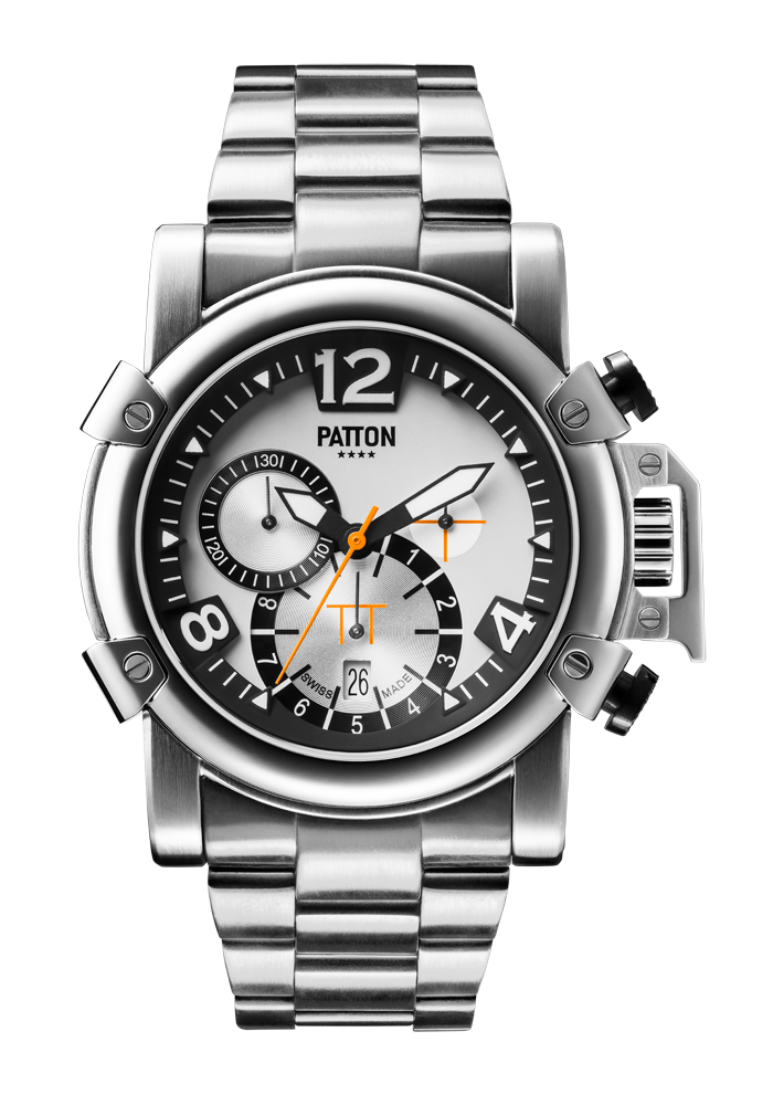 CHRONO - Steel - Silver - Steel - 42mm