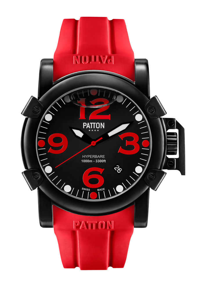 HYPERBARE - Navy - Red - Rubber - 42mm
