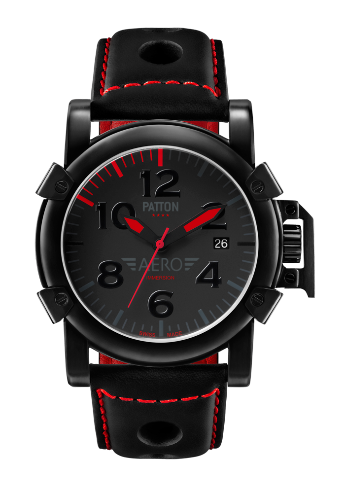 IMMERSION - Aero - Black - Leather - 42mm