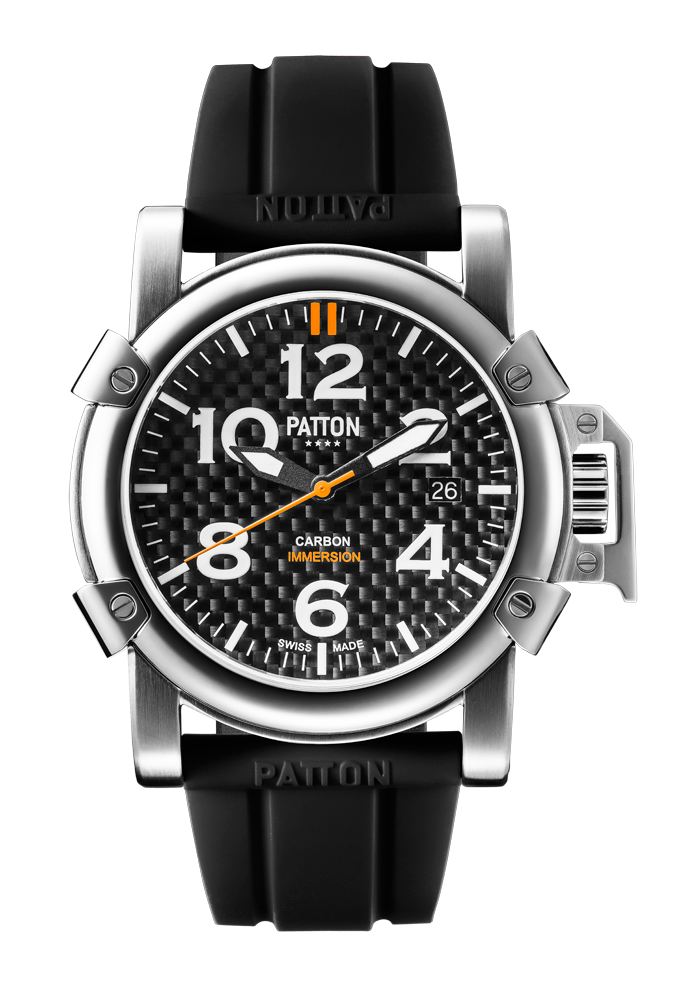 IMMERSION - Carbon - Black - Rubber - 42mm
